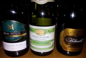 Mud House, Beaucharme Chardonnay, Blondel Champagne