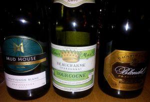 Mud House, Beaucharme Chardonnay, Blondel Champagne